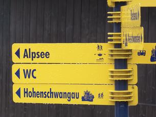 ドイツの道路案内標識の写真素材 [FYI04220070]