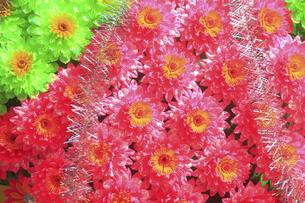 新装開店の造花の花輪の写真素材 [FYI04220740]