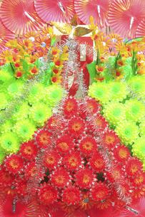 新装開店の造花の花輪の写真素材 [FYI04220744]
