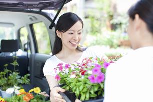 花屋の店員の女性の写真素材 [FYI04221594]