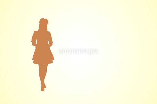 メイドシルエットのイラスト素材 [FYI04222280]
