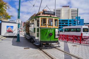 路面電車_トラム_クライストチャーチ_ニュージーランドの写真素材 [FYI04222982]