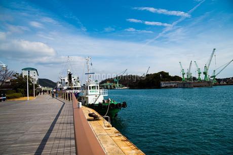 晴れた日の尾道港の写真素材 [FYI04223000]