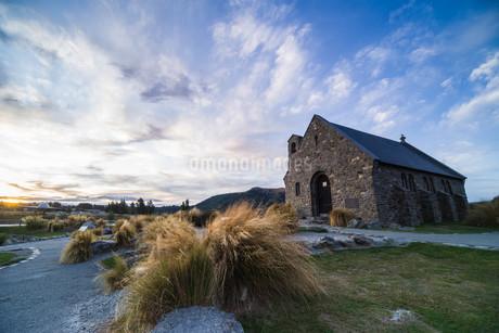 善き羊飼いの教会_テカポ_ニュージーランドの写真素材 [FYI04223175]