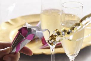 クラッカーとワインの写真素材 [FYI04223667]