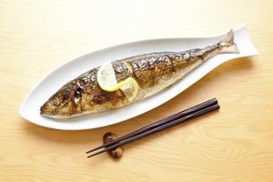 焼き魚アジの写真素材 [FYI04225235]