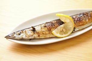 焼き魚サンマの写真素材 [FYI04225249]