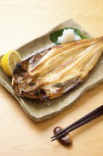 焼き魚ホッケの写真素材 [FYI04225257]