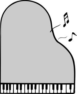 ピアノの枠のイラスト素材 [FYI04226174]