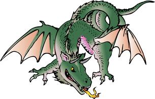 ドラゴンのイラスト素材 [FYI04226420]