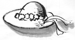 花飾りの帽子のイラスト素材 [FYI04226497]