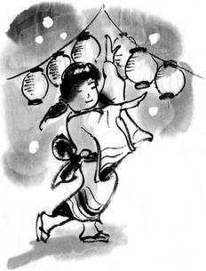盆踊りのイラスト素材 [FYI04226658]