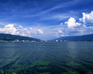諏訪湖の写真素材 [FYI04230071]