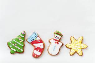 クリスマスのクッキーの写真素材 [FYI04231502]