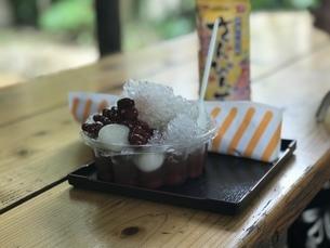 沖縄 氷ぜんざいとさんぴん茶の写真素材 [FYI04232306]