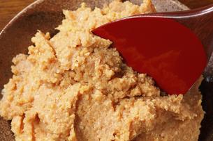 味噌と杓子の写真素材 [FYI04232571]