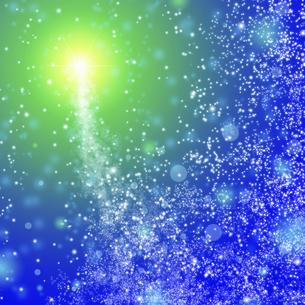 星空と彗星のイラスト素材 [FYI04233711]