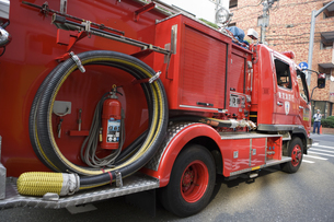 消防自動車 ポンプ車の写真素材 [FYI04235612]