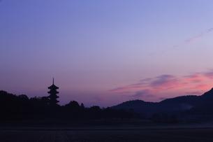 備中国分寺の朝の写真素材 [FYI04237147]