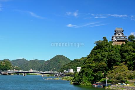 国宝犬山城と木曽川の写真素材 [FYI04237424]
