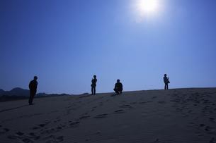 鳥取砂丘、青空の写真素材 [FYI04238723]