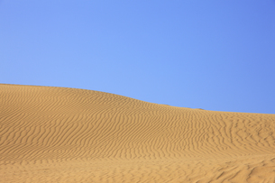 鳥取砂丘、青空の写真素材 [FYI04238798]