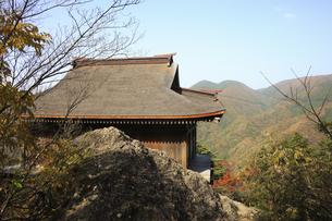三徳山の紅葉の写真素材 [FYI04239125]