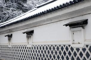 大阪城金蔵と雪の写真素材 [FYI04240351]