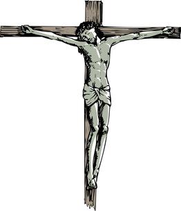 キリスト像のイラスト素材 [FYI04240701]