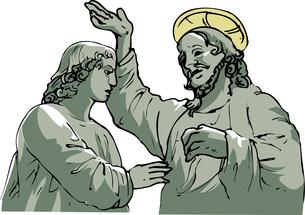 キリスト像のイラスト素材 [FYI04240702]