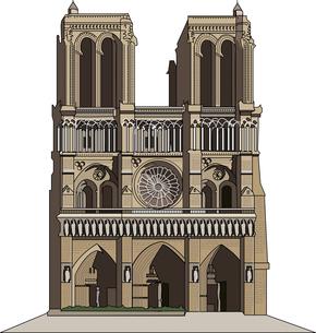 ノートルダム寺院のイラスト素材 [FYI04240709]