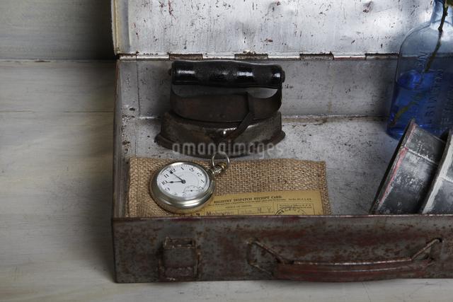 レトロな道具箱の写真素材 [FYI04241586]