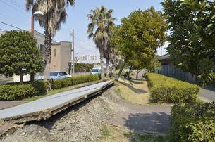 浦安市における東日本大震災の被害の写真素材 [FYI04243402]