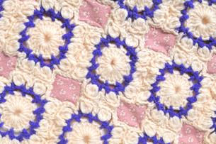 編み物のパッチワークの写真素材 [FYI04243610]
