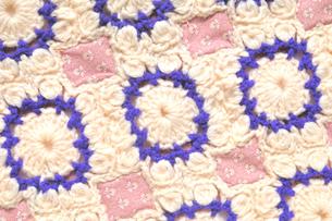 編み物のパッチワークの写真素材 [FYI04243611]