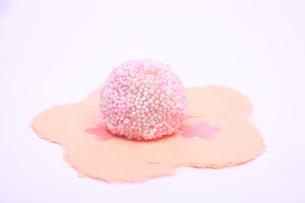丸型の和菓子の写真素材 [FYI04244321]