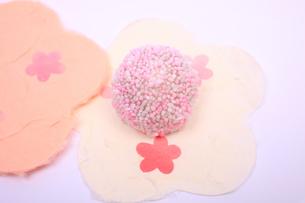 丸型の和菓子の写真素材 [FYI04244323]
