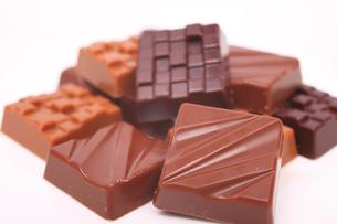 角型チョコレートの写真素材 [FYI04244346]