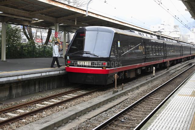 伊豆急行黒船電車の写真素材 [FYI04244628]