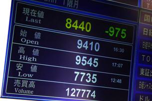 株価暴落のイラスト素材 [FYI04246524]