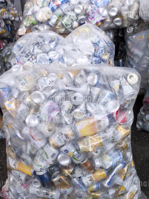 回収された空き缶の写真素材 [FYI04250669]