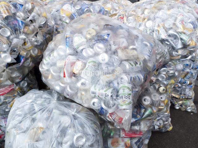 回収された空き缶の写真素材 [FYI04250671]