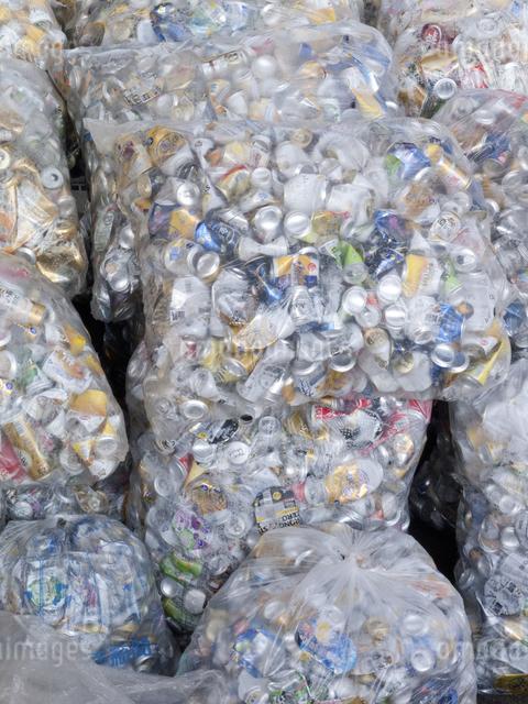 回収された空き缶の写真素材 [FYI04250677]