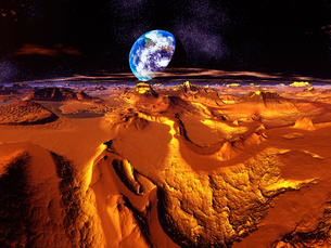 火星からの世界の写真素材 [FYI04253096]