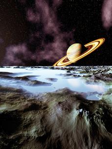 鉱山惑星と土星の写真素材 [FYI04253103]