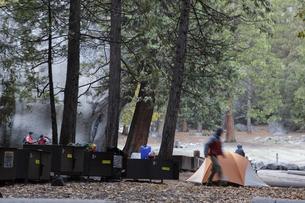 朝のキャンプ4(フォー)の写真素材 [FYI04254678]