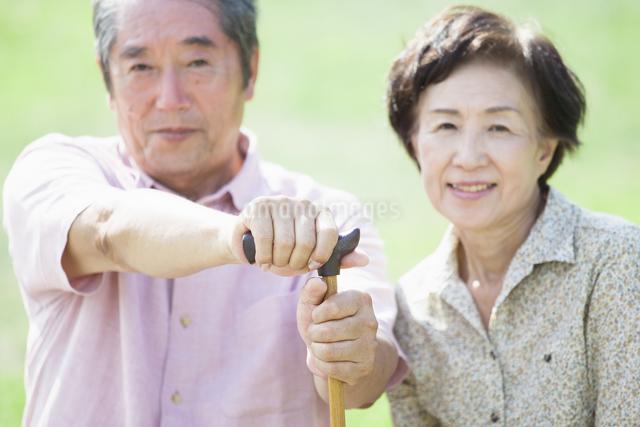 杖を握るシニアの写真素材 [FYI04255432]