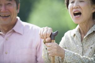 杖を握るシニアの写真素材 [FYI04255437]