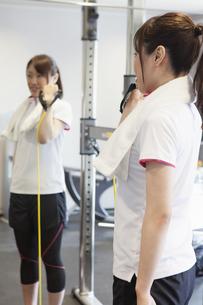 トレーニングをする女性の写真素材 [FYI04255500]