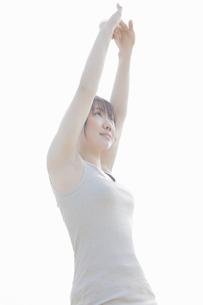 体操をする女性の写真素材 [FYI04255514]